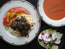 Jantar da galinha Foto de Stock