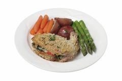 jantar da galinha Imagens de Stock