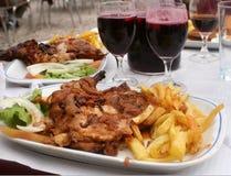 Jantar da galinha Fotografia de Stock Royalty Free