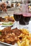Jantar da galinha Fotografia de Stock