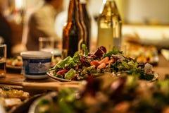 Jantar da imagem do restaurante fotografia de stock