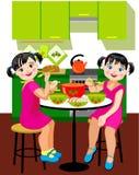 Jantar da irmã Imagens de Stock