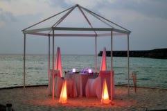Jantar da luz da vela do dia de Valentim Fotografia de Stock Royalty Free