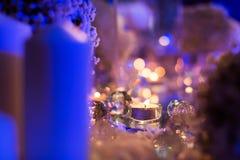 Jantar da luz de vela Imagem de Stock Royalty Free
