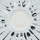 Jantar de espera II Imagem de Stock