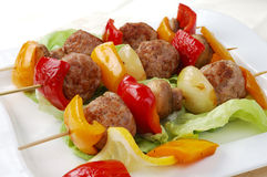 Jantar de Kebab Foto de Stock Royalty Free