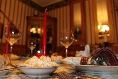 Jantar de Natal Fotografia de Stock Royalty Free
