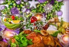 Jantar de Natal Imagens de Stock