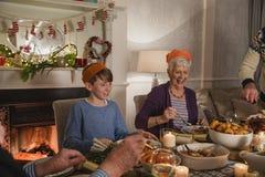 Jantar de Natal da família Fotos de Stock