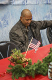 Jantar de Natal para soldados dos E.U. no centro ferido do guerreiro, Camp Pendleton, ao norte de San Diego, Califórnia, EUA Fotografia de Stock