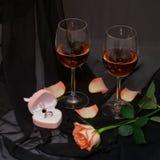 Jantar de Romantichesy Foto de Stock Royalty Free
