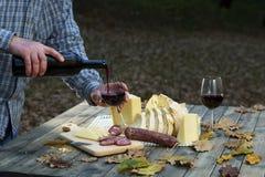 Jantar de Typica em Sardinia fotografia de stock royalty free