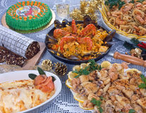Jantar de uma festividade fotos de stock royalty free