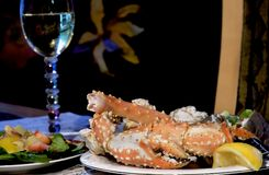Jantar do Alasca do rei caranguejo Foto de Stock Royalty Free