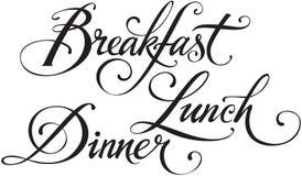 Jantar do almoço do café da manhã Fotos de Stock