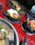 Jantar do almoço dos petiscos imagens de stock royalty free