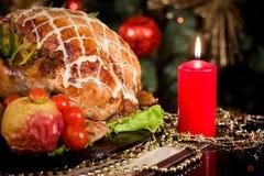 Jantar do ano novo do Natal Fotografia de Stock