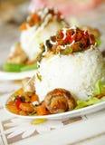 Jantar do arroz Imagem de Stock