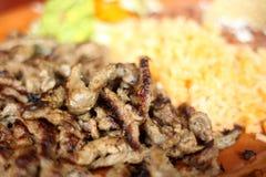 Jantar do asada de Carne Imagem de Stock