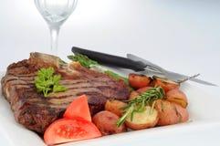 Jantar do bife Foto de Stock Royalty Free