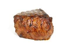 Jantar do bife, cozimento na grelha suculento do Mignon- de faixa, isolat Imagem de Stock Royalty Free