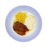 Jantar do bife de Salisbúria imagens de stock
