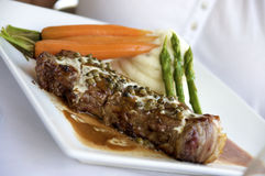 Jantar do bife do Peppercorn foto de stock royalty free