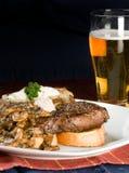 Jantar do bife e da batata Fotos de Stock
