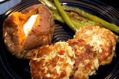 Jantar do bolo de caranguejo Fotografia de Stock Royalty Free