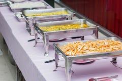 Jantar do bufete Imagens de Stock