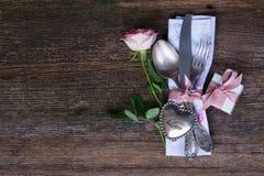 Jantar do dia de Valentim Imagem de Stock