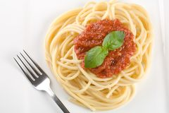 Jantar do espaguete Fotos de Stock