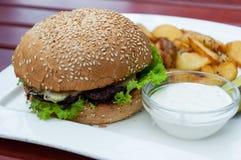 Jantar do fast food Fotos de Stock
