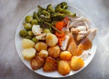 Jantar do frango assado Imagem de Stock Royalty Free