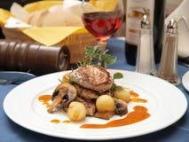 Jantar do gourmet Foto de Stock