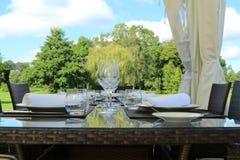 Jantar do jardim Fotografia de Stock Royalty Free