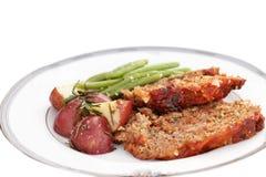 Jantar do Meatloaf imagem de stock royalty free