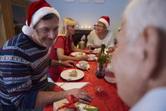 Jantar do Natal Fotos de Stock