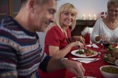 Jantar do Natal Fotos de Stock Royalty Free