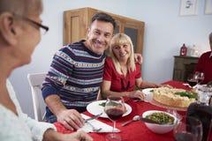 Jantar do Natal Fotografia de Stock