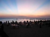 Jantar do por do sol Imagem de Stock