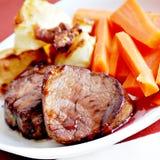 Jantar do tenderloin de carne de porco Fotos de Stock Royalty Free