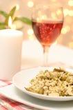 Jantar do vegetariano com um serviço Imagem de Stock Royalty Free