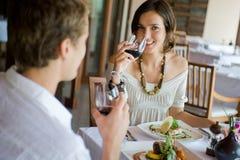 Jantar dos pares Imagem de Stock