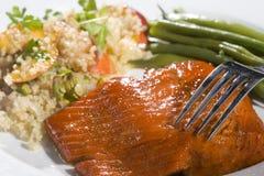 Jantar dos salmões do gourmet Foto de Stock