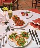 Jantar extravagante Fotos de Stock