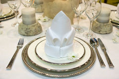 Jantar extravagante Fotos de Stock Royalty Free