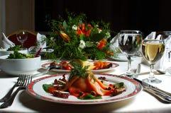 Jantar extravagante Imagem de Stock
