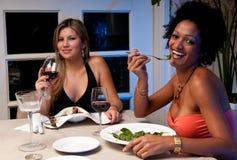 Jantar feliz Fotos de Stock Royalty Free