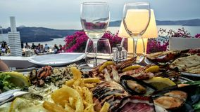 Jantar grego Fotografia de Stock Royalty Free